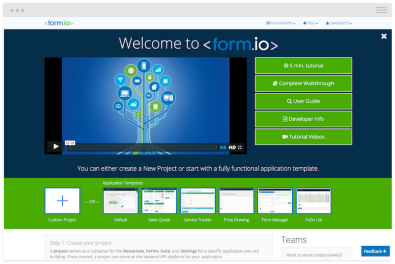 Form IO How it Works Step 1