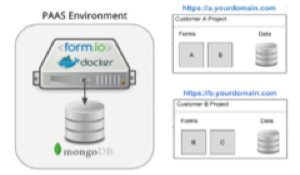 Form IO Multi-tenant graphic