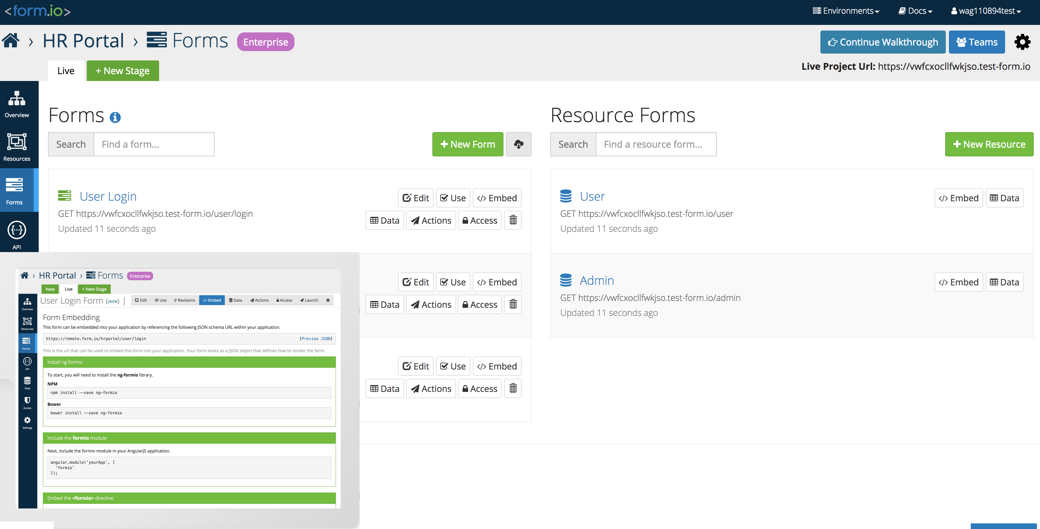 Form IO - A Form and Data Management Platform